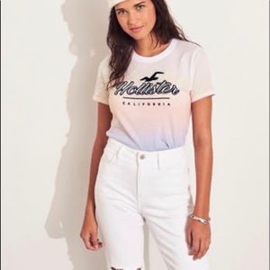 An ombre graphic Hollister tee.